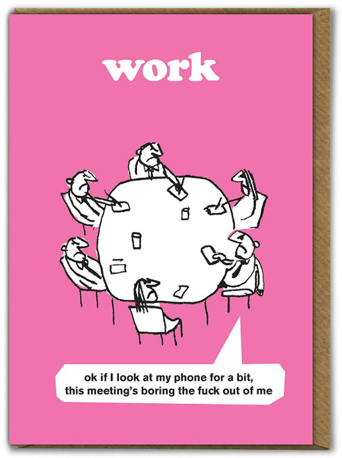 Boring Meeting Card