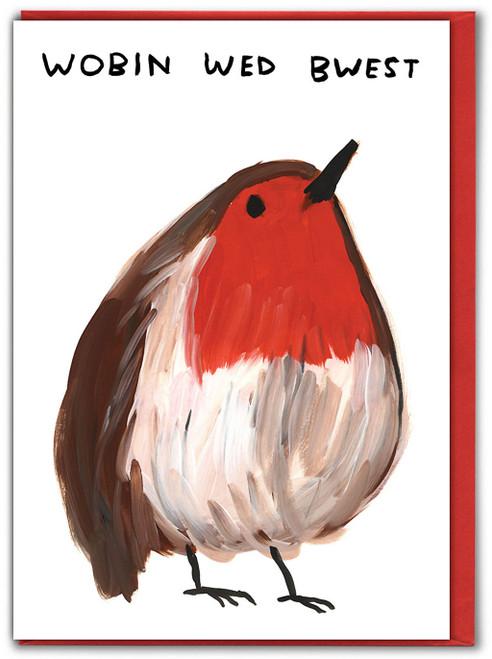 Wobin Wed Bwest David Shrigley Christmas Card