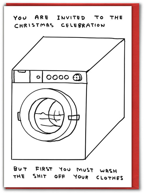 Xmas Celebration Wash Clothes David Shrigley Christmas Card