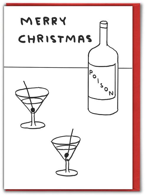 Xmas Poison David Shrigley Christmas Card