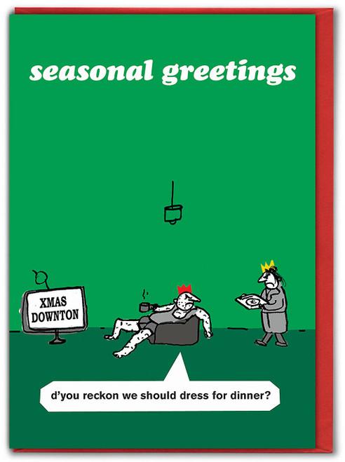 Downton Abbey Christmas Card