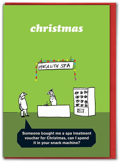 Spa Voucher Christmas Card