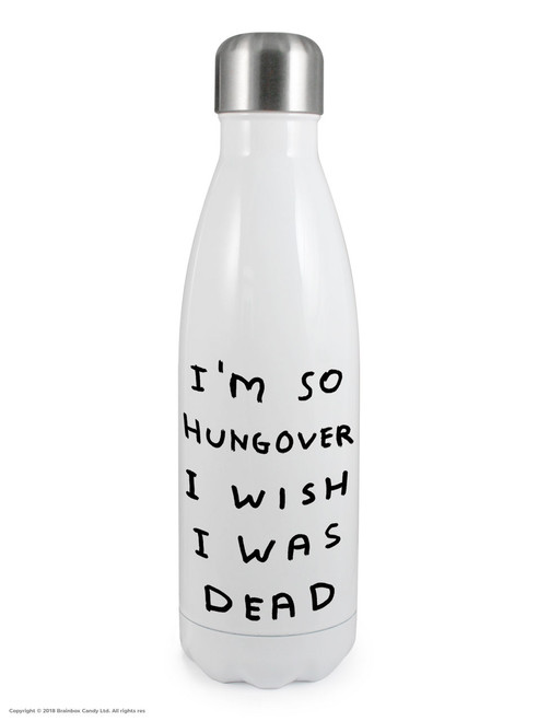 Hungover - David Shrigley Thermal Water Bottle
