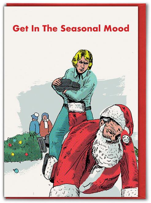 Santa Seasonal Mood Christmas Card