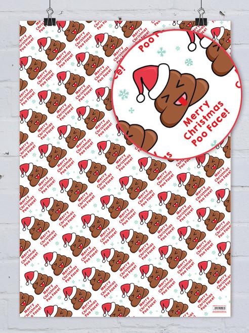 Poo Face Christmas Gift Wrap
