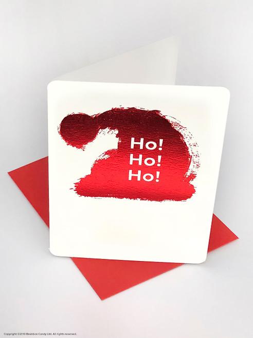 Ho Ho Ho (Red Foiled) Christmas Card