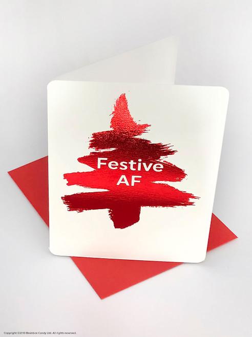 Festive AF (Red Foiled) Christmas Card