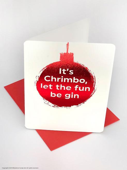 Chrimbo Fun Be Gin (Red Foiled) Christmas Card