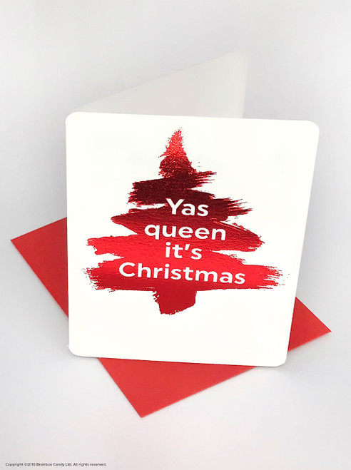 Yas Queen (Red Foiled) Christmas Card