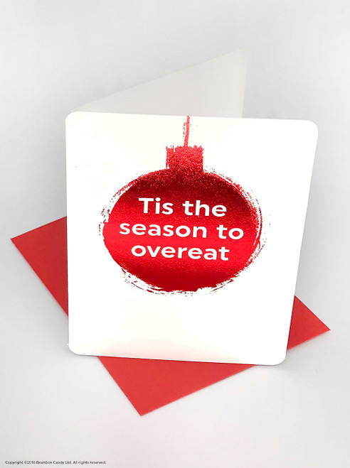 Time To Over-Eat (Red Foiled) Christmas Card