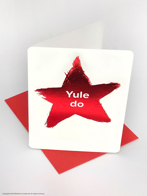 Yule Do (Red Foiled) Christmas Card