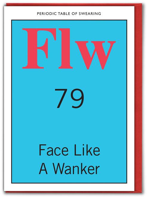 Face Like A Wanker Card