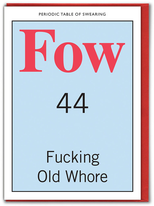 Fucking Old Whore Card