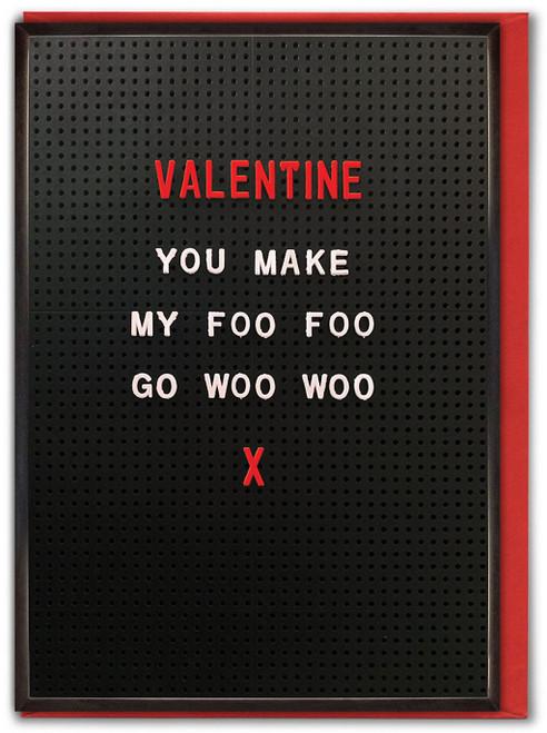 Foo Foo Woo Woo Valentine's Day Card