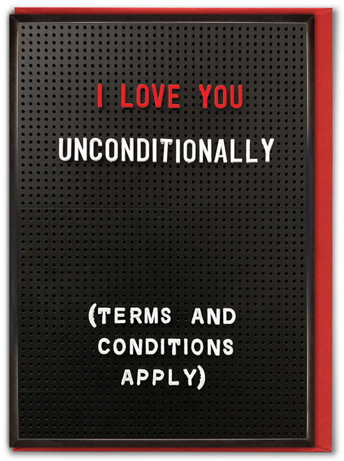 Love You Unconditionally Valentine's Day Card