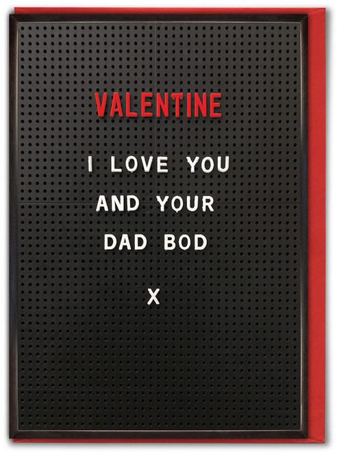 Dad Bod Valentine's Day Card