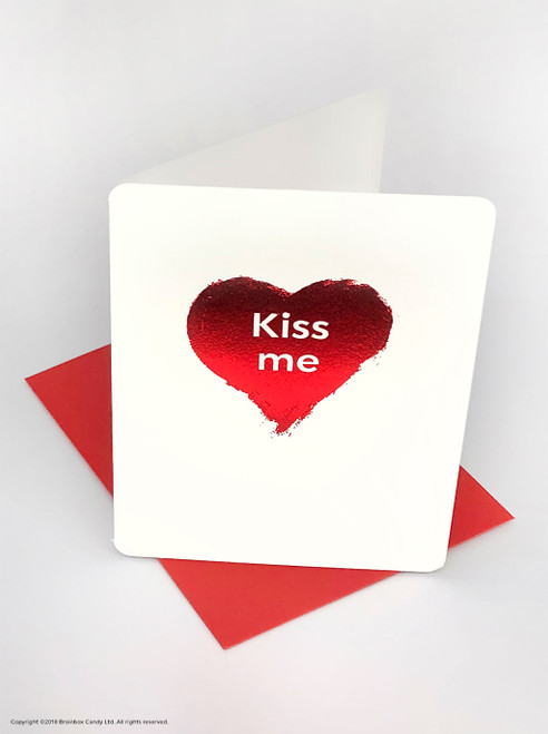 Kiss Me (Red Foiled) Valentine's Day Card