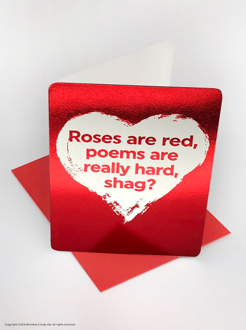 Poems Are Hard (Red Foiled) Valentine's Day Card