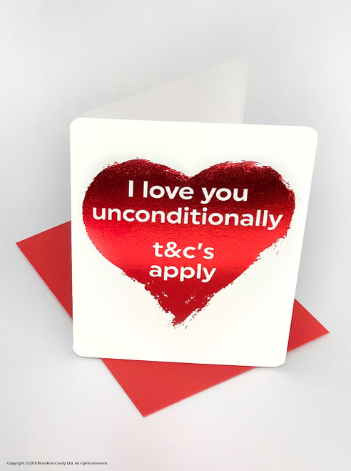 Love You Unconditionally (Red Foiled) Valentine's Day Card