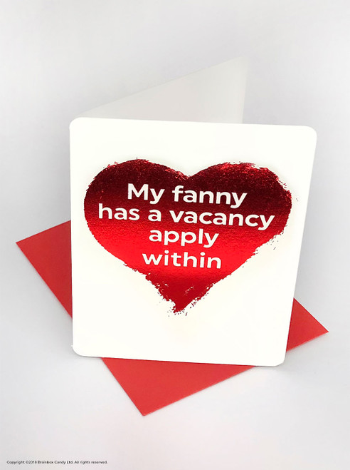 Fanny Vacancy (Red Foiled) Valentine's Day Card