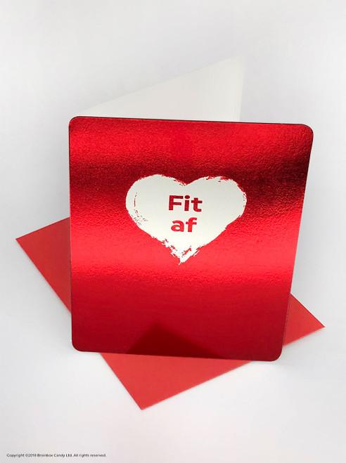 Fit AF (Red Foiled) Valentine's Day Card