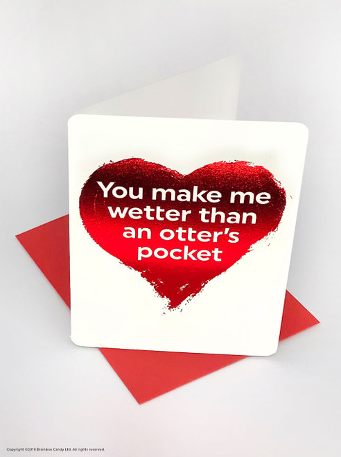 Otter's Pocket (Red Foiled) Valentine's Day Card