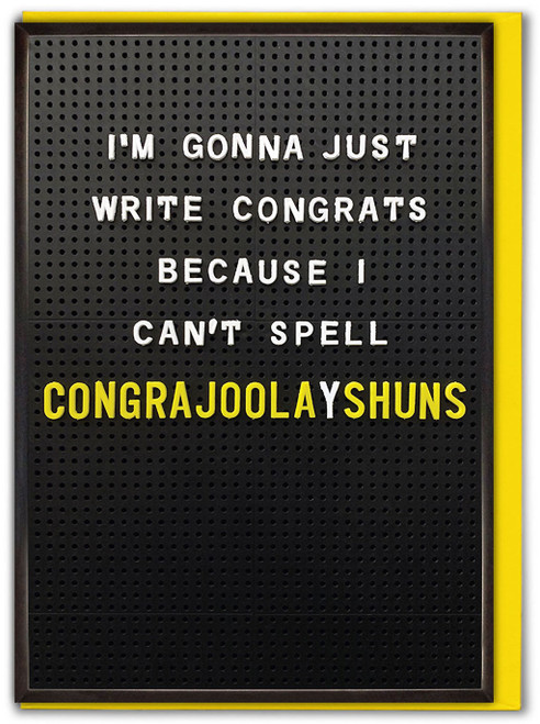 Congrajoolayshuns Card
