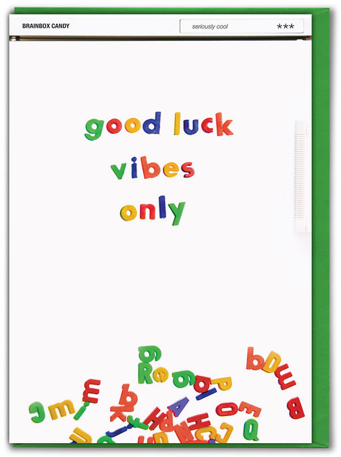 Good Luck Vibes Only Card
