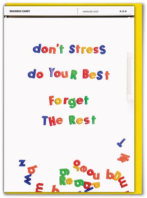 Don't Stress Good Luck Card