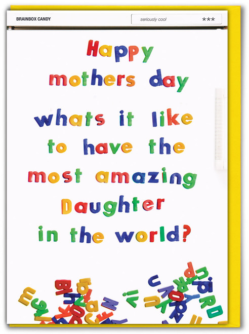 Most Amazing Daughter Mother's Day Card