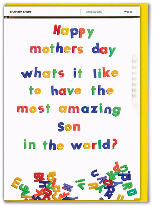 Most Amazing Son Mother's Day Card
