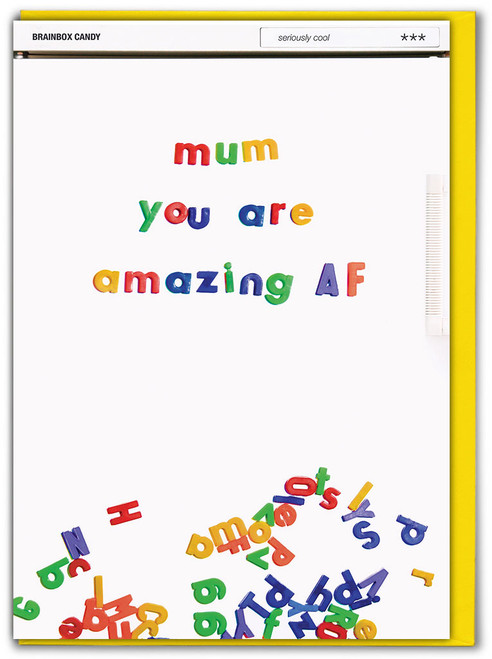 Mum Amazing AF Mother's Day Card