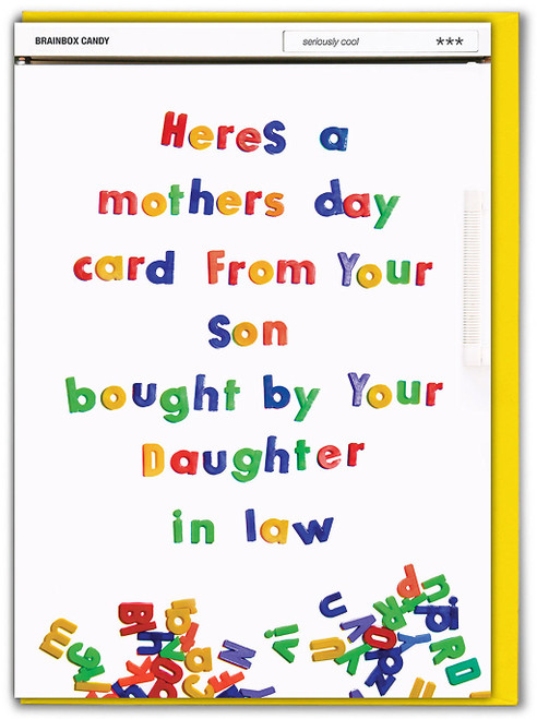 Bought By Daughter In law Mother's Day Card