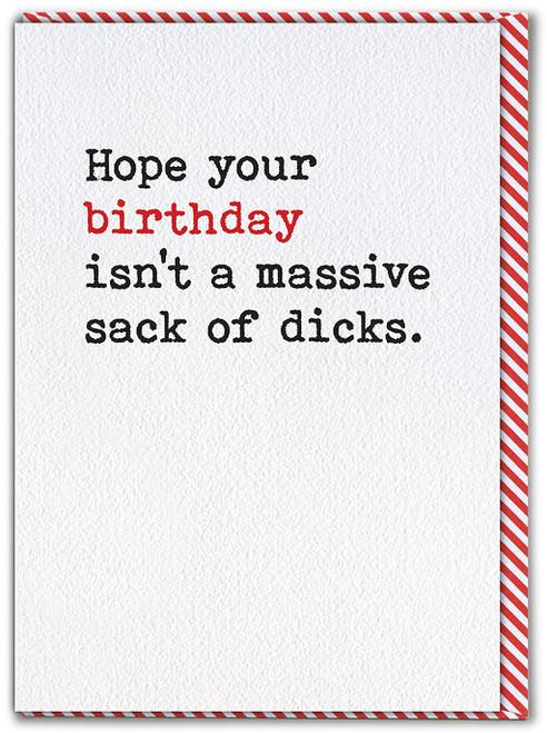 Sack Of Dicks Birthday Card