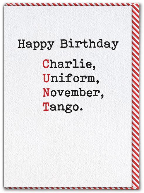 Charlie Uniform Birthday Card