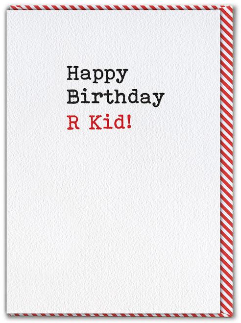 R Kid Birthday Card