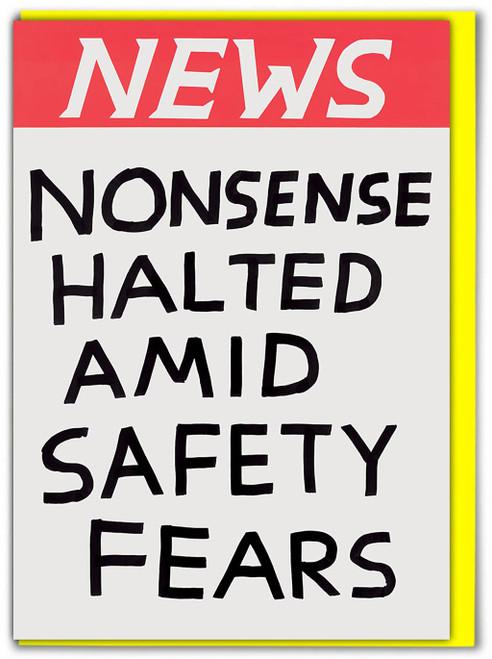 David Shrigley NEWS Nonsense Halted Greetings Card