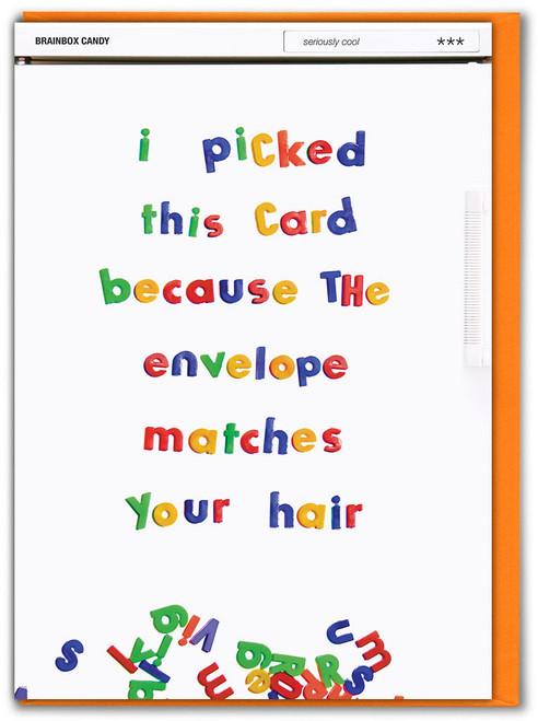 Envelope Matches Hair (Ginger) Birthday Card