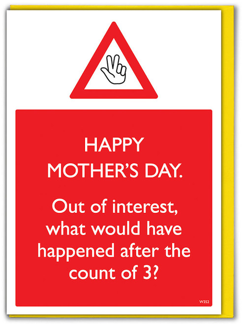 Count Of 3 Mother's Day Card