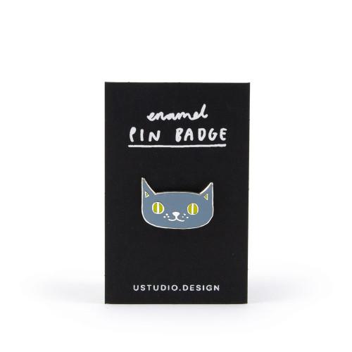 Lilac 'Cat' Enamel Pin Badge