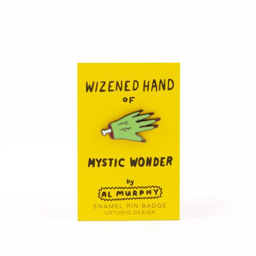 Wizened Hand Enamel Pin Badge