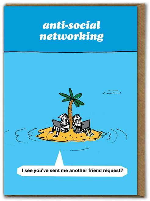 Anti-Social Networking Card