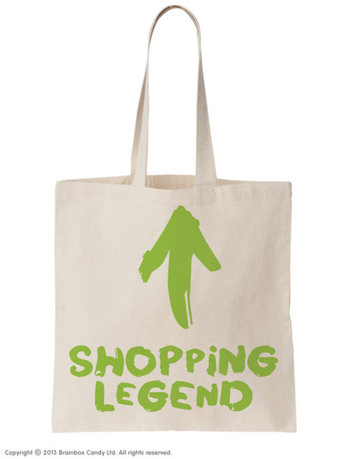 Shopping Legend Tote Bag