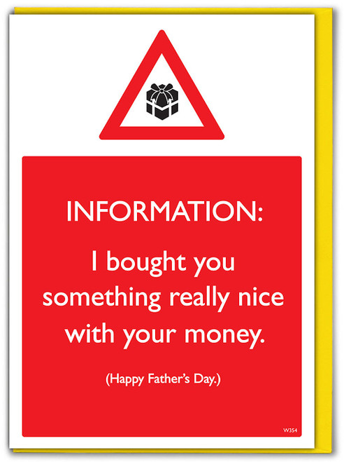 Bought You Something Father's Day Card