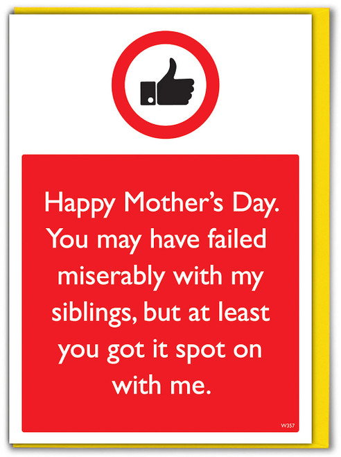 Siblings Spot On With Me Mother's Day Card