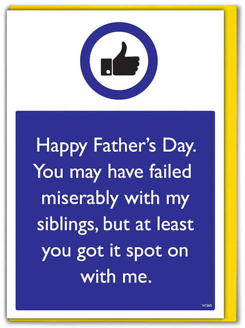 Siblings Spot On With Me Father's Day Card