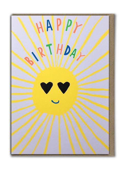 Fab Neon Sunshine Birthday Card