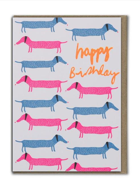 Happy Birthday Sausage Dogs Card