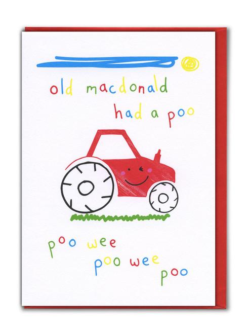 Old MacDonald Card