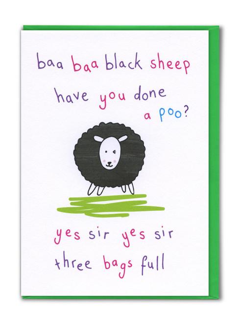 Baa Baa Black Sheep Card